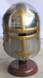 Medieval Helmet With Stand