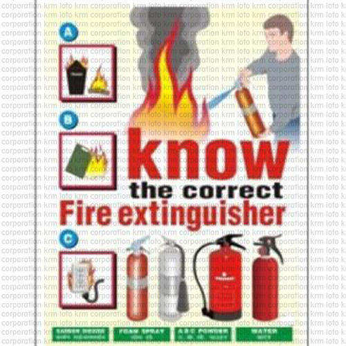 Safety Poster Fire Safety Poster Manufacturer From Faridabad