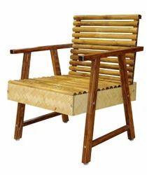 single seat bamboo sofa unit in bamboo timber