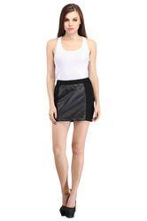Designer Faux Leather Skirt