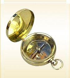Pocket Compass Brass Dial