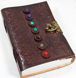 seven stone leather journal with single latch