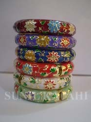 oriental enamel bangles