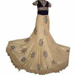 Designer+Long+Embroidered+Skirt