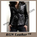 leather blazer