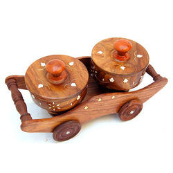 Wooden Bowl with Case