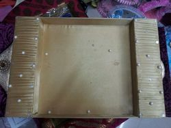 Golden Saree Packaging Tray