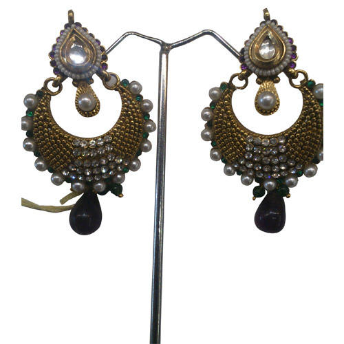 Antique Kundan Pearl Earring