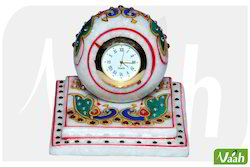 Vaah Marble Table Watch with Painting