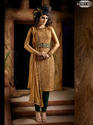 Golden Georgette Salwar Kameez