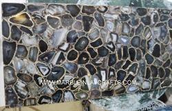 Black Agate Gemstone Slab