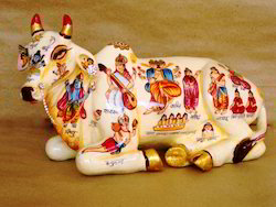 Painted Cow Statues