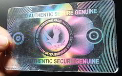 Flying Eagle Secure Valid Authentic Holographic Overlay