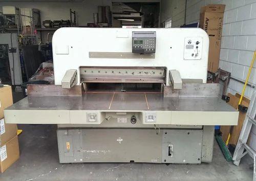 cutting machines polar 115 ce 45 manufacturer from vasai rh indiamart com Automatic Paper Cutter Machine 141 Inch Commercial Paper Cutter
