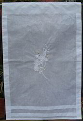 White Curtain In Embrodiery