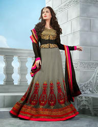 Red Designer Long Anarkali Suits