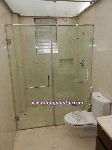 GLASS SHOWER DESIGN IDEAS Glass Doors For Bathroom Partition Simple Bathroom Partition Glass Model