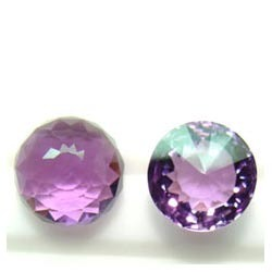 Amethyst Round Fancy Cut Stone
