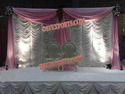 Wedding Stage Elegant White Pink Backdrop