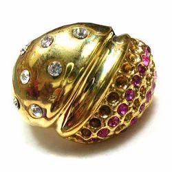 Stone Kundan CZ Ring