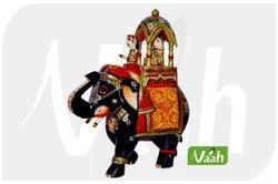 Vaah Wooden Ambawadi Elephant