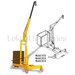 counter balance hydraulic floor crane