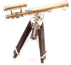 Brass Brass Telescope with Tripod