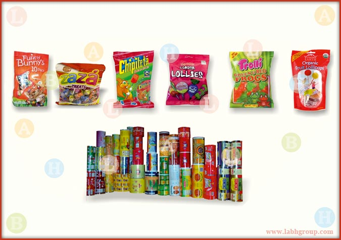 Printed Packaging Roll for Lollipop Pouches