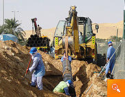 pipe laying in desert