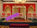Wedding Fiber Jhrokha Backdrop Stage