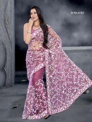 Lavender Wedding Party Designer Sarees