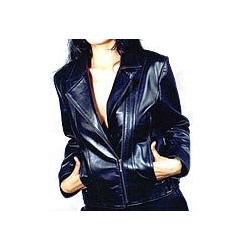 Trendy Blue Leather Garment
