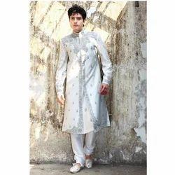 Classic Pure Silk White Sherwani