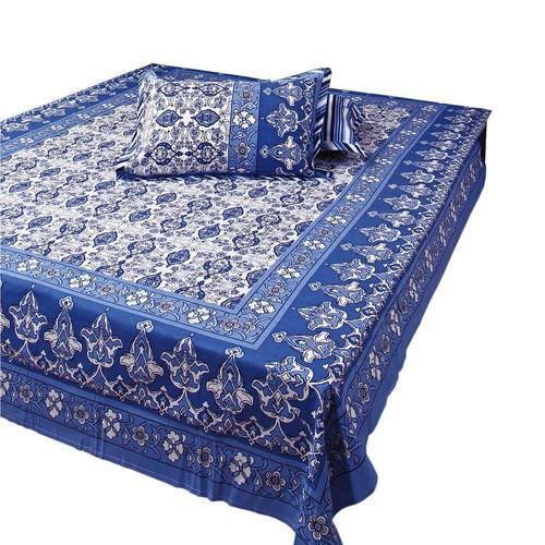 Jaipuri Hand Block Printed Bed Sheet