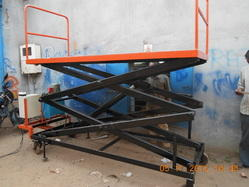 Hydraulic Scissors Lift Table with Wheels