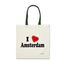 I Love Amsterdam Canvas Bags