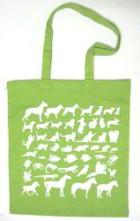 Green Calico Bag