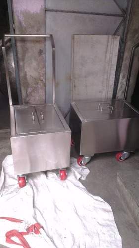 Material Handling Trolley Stainless Steel Weight Box