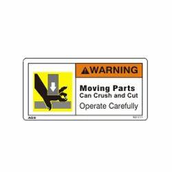 Crush Hazard Warning Sign