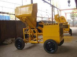 Concrete Mixer with Hydraulic Bucket Loader