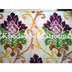 Printed Embroidered Silk Fabric