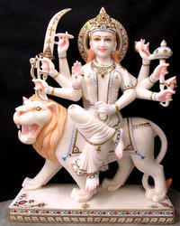 Marble Lord Sherwali Mata Statue