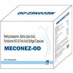 Mecobalamine,Alpa Lipoic Acid, Pridoxine&Folic Acid Capsule