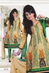 dream girl designer cotton anarkali dress material