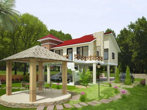 Farmhouse Landscape Development Services In Sun Light