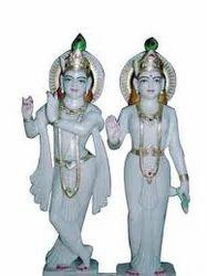 Radha Krishna Crystal Statue