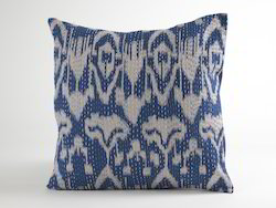 Ikat Kantha Cushion cover