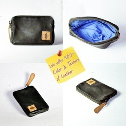 Real Genuine Leather Small Coin Purse Cum Travelers Utility
