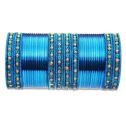 Blue Metal Bangles