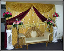 Wedding Golden Stage Backdrop